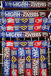 Wigan Athletic 1 Rubin Kazan 1, 24/10/2013. DW Stadium, Europa League Group D. Wigan Athletic embark on their first European campaign having won the FA Cup the previous season. The DW Stadium is temporarily known as The Wigan Athletic Stadium for Europa League fixtures. Friendship scarves on sale before the game. Photo by Paul Thompson.