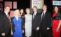 NWA Democrat-Gazette/CARIN SCHOPPMEYER Margaret Whillock, University of Arkansas Chancellor's Medal recipient (center), is joined by her children Brennan Carter (from left), Sallie Overbey, Jenny Dakil, Larry Carter, Ben Carter and Melissa McKenney.