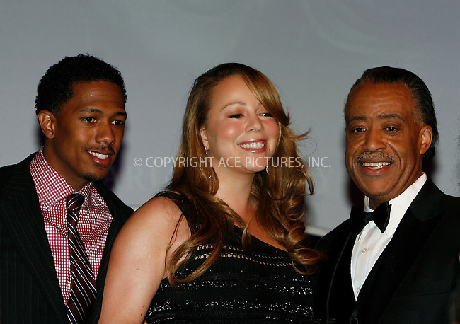 WWW.ACEPIXS.COM . . . . .  ....April 15 2010, New York City....Nick Cannon, Mariah Carey and Al Sharpton arriving at the 12th annual Keepers Of The Dream Awards at the Sheraton New York Hotel & Towers on April 15, 2010 in New York City.....Please byline: NANCY RIVERA- ACEPIXS.COM.... *** ***..Ace Pictures, Inc:  ..Tel: 646 769 0430..e-mail: info@acepixs.com..web: http://www.acepixs.com