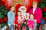 Tracey, Molly, Brendan and Noreen Sheehy from Duagh meeting Santa Claus in the Manor West Shopping Centre on Saturday.