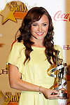 US actress Briana Evigan receives the Female Stars of Tomorrow Award at the 2009 ShoWest Awards in Las Vegas, California 2 April 2009. The closing night ceremony for the 2009 ShoWest features top film industry talent at the final night banquet and awards ceremony.