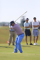 Jason Dufner (USA) plays his 2nd shot on the 7th hole during Wednesday's Practice Day of the 117th U.S. Open Championship 2017 held at Erin Hills, Erin, Wisconsin, USA. 14th June 2017.<br /> Picture: Eoin Clarke | Golffile<br /> <br /> <br /> All photos usage must carry mandatory copyright credit (&copy; Golffile | Eoin Clarke)