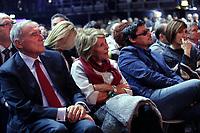 """Pietro Grasso, President of the Italian Senate, with his wife Maria and his son Maurilio<br /> Pietro Grasso con la moglie Maria ed il figlio Maurilio<br /> Roma 03/12/2017. Assemblea popolare dal tema: """"Una nuova proposta"""", organizzata da vari partiti di sinistra, Articolo Uno – Mdp, Sinistra Italiana e Possibile, per creare una lista unitaria.<br /> Rome December 3rd 2017. Assembly  titled ' A new proposal' of various left wing parties to create a unique list.<br /> Foto Samantha Zucchi Insidefoto Pietro Grasso, President of the Italian Senate, with his wife Maria and his son Maurilio<br /> Pietro Grasso con la moglie Maria ed il figlio Maurilio con sua moglie Lara Panella<br /> Roma 03/12/2017. Assemblea popolare dal tema: """"Una nuova proposta"""", organizzata da vari partiti di sinistra, Articolo Uno – Mdp, Sinistra Italiana e Possibile, per creare una lista unitaria.<br /> Rome December 3rd 2017. Assembly  titled ' A new proposal' of various left wing parties to create a unique list.<br /> Foto Samantha Zucchi Insidefoto"""