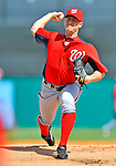 3 March 2011: Washington Nationals' pitcher Jordan Zimmermann on the mound during a Spring Training game against the St. Louis Cardinals at Roger Dean Stadium in Jupiter, Florida. The Cardinals defeated the Nationals 7-5 in Grapefruit League action. Mandatory Credit: Ed Wolfstein Photo