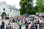 Minister Heather Humphries addresses the large crowd at the official opening of Killarney House and Gardens on Monday
