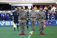 in remembrence during Ipswich Town vs Preston North End, Sky Bet EFL Championship Football at Portman Road on 3rd November 2018