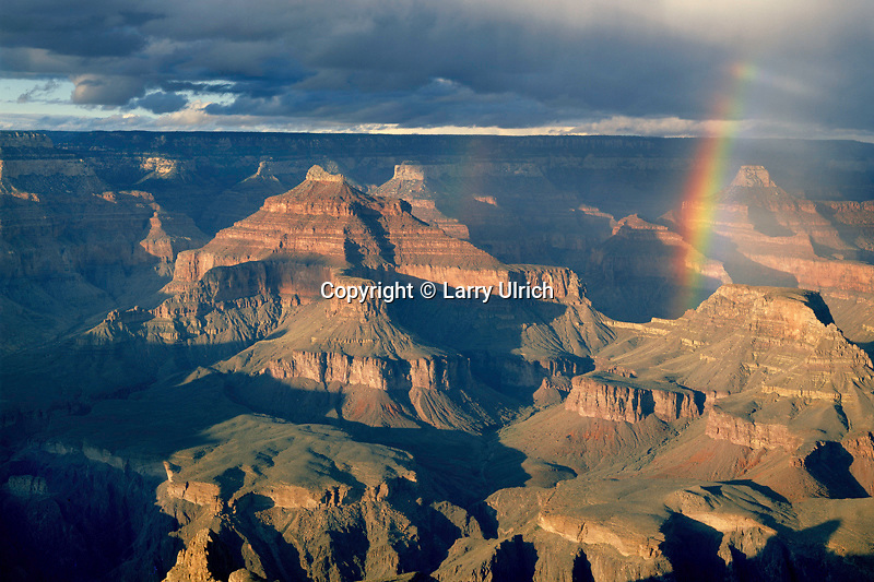 Rainbow over Isis Temple<br />   from Hopi Point,  Grand Canyon<br /> Grand Canyon National Park<br /> Colorado Plateau,  Arizona