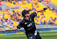 Colin Munro fields during the One Day International cricket match between NZ Black Caps and India at Westpac Stadium in Wellington, New Zealand on Sunday, 3 February 2019. Photo: Dave Lintott / lintottphoto.co.nz