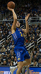 South Dakota State forward Mike Daum (24) shoots against Nevada in the second half of an NCAA college basketball game in Reno, Nev., Saturday, Dec. 15, 2018. (AP Photo/Tom R. Smedes)