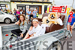 Pumba the puppy who won Puppy of the Year with Taylor Dowling, Aisling Kenny and Michaela Roche at the Ballyheigue Summer Fest Parade on Sunday
