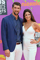 Michael Phelps &amp; Nicole Johnson at Nickelodeon's Kids' Choice Sports 2017 at UCLA's Pauley Pavilion. Los Angeles, USA 13 July  2017<br /> Picture: Paul Smith/Featureflash/SilverHub 0208 004 5359 sales@silverhubmedia.com