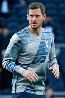 Tottenham Hotspur's Jan Vertonghen during the pre-match warm-up <br /> <br /> Photographer Stephanie Meek/CameraSport<br /> <br /> The Premier League - Tottenham Hotspur v Bournemouth - Saturday 30th November 2019 - Tottenham Hotspur Stadium - London<br /> <br /> World Copyright © 2019 CameraSport. All rights reserved. 43 Linden Ave. Countesthorpe. Leicester. England. LE8 5PG - Tel: +44 (0) 116 277 4147 - admin@camerasport.com - www.camerasport.com