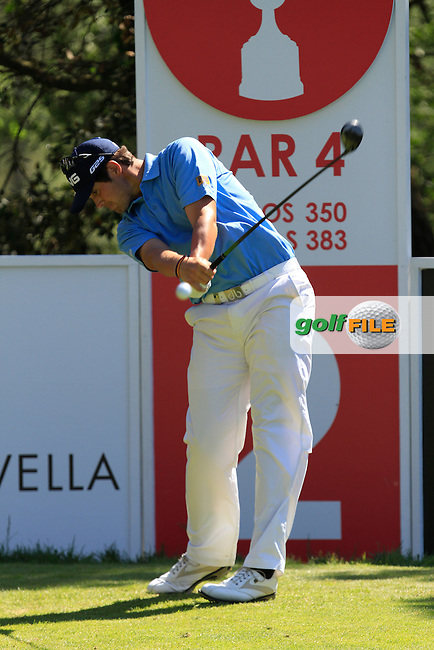 Nacho Elvira (ESP) on the 2nd during Thursday's Round 1 of The Open De Espana at The PGA Catalunya Resort. 15th May 2014.<br /> Picture:  Thos Caffrey / www.golffile.ie