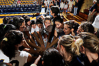15 November 2008:  The FIU Women's Volleyball Team gathers after the FIU victory 3-0 (25-14, 25-22, 25-20) over FAU at FIU Stadium in Miami, Florida.