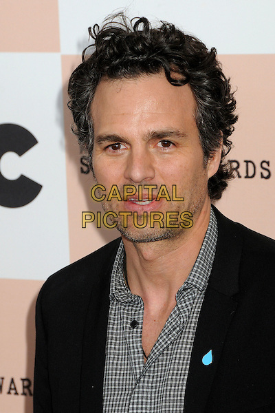 MARK RUFFALO .2011 Film Independent Spirit Awards - Arrivals held at Santa Monica Beach, - Santa Monica, California, USA, .26th February 2011..indie portrait headshot black  checked shirt check stubble facial hair .CAP/ADM/BP.©Byron Purvis/AdMedia/Capital Pictures.