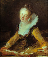 Jean H. Fragonard 1732-1806.  L'Etude.  Louvre.  Reference only.