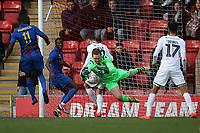 Ben McNamara of Maldon makes a fine save during Leyton Orient vs Maldon & Tiptree, Emirates FA Cup Football at The Breyer Group Stadium on 10th November 2019
