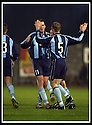 02/11/2002                   Copyright Pic : James Stewart.File Name : stewart-east fife v albion 10.JOHN MCCAIG (5) IS CONGRATULATED BY JIM MERCER AFTER SCORING THE THIRD GOAL...Payments to :-.James Stewart Photo Agency, 19 Carronlea Drive, Falkirk. FK2 8DN      Vat Reg No. 607 6932 25.Office     : +44 (0)1324 570906     .Mobile  : +44 (0)7721 416997.Fax         :  +44 (0)1324 570906.E-mail  :  jim@jspa.co.uk.If you require further information then contact Jim Stewart on any of the numbers above.........