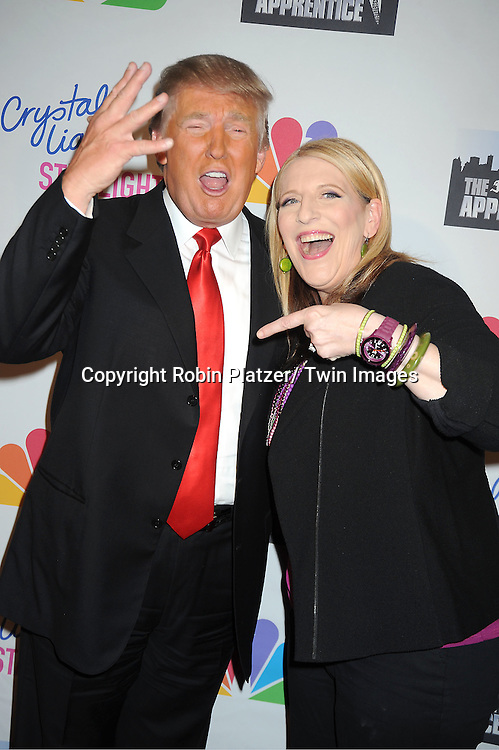 Donald Trump and Lisa Lampanelli attend The Celebrity Apprentice Live Finale at The Museum of Natural History in New York City on May 20, 2012.