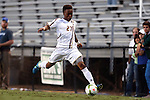 26 September 2014: Boston College's Mohammed Moro. The Duke University Blue Devils hosted the Boston College Eagles at Koskinen Stadium in Durham, North Carolina in a 2014 NCAA Division I Men's Soccer match. Duke won the game 1-0.