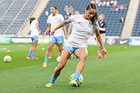 Chicago, IL - Saturday Sept. 24, 2016: Sarah Gorden prior to a regular season National Women's Soccer League (NWSL) match between the Chicago Red Stars and the Washington Spirit at Toyota Park.