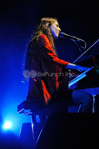 LONDON, ENGLAND - MAY 10: Birdy (Jasmine Lucilla Elizabeth Jennifer van den Bogaerde) performing at Camden Roundhouse on May 10, 2016 in London, England.<br /> CAP/MAR<br /> &copy; Martin Harris/Capital Pictures /MediaPunch ***NORTH AND SOUTH AMERICA ONLY***