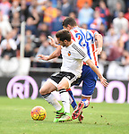 Valencia CF's Pablo Piatti   and Sporting de Gijon's Rachid  during La Liga match. January 31, 2016. (ALTERPHOTOS/Javier Comos)