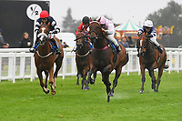 Winner of The Shadwell Racing Excellence Apprentice Handicap Div 2  Bounty Pursuit ridden by Marco Ghiani and trained by Michael Blake   during Horse Racing at Salisbury Racecourse on 14th August 2019