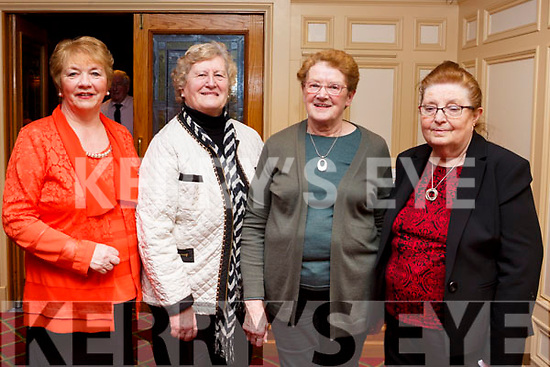 Enjoying the Sliabh Luachra Active Retirement Tea Dance afternoon in the River Island Hotel, Castleisland on Sunday last, l-r, Mary Ellen O'Connor (Scartaglin), Rose McElligott (Lixnaw), Lil O'Leary (Ballymac) and Mary Mangan (Lyrecrompane).