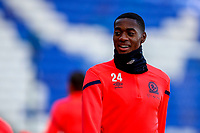 4th January 2020; St Andrews, Birmingham, Midlands, England; English FA Cup Football, Birmingham City versus Blackburn Rovers; Tosin Adarabioyo of Blackburn Rovers warms-up prior to the match - Strictly Editorial Use Only. No use with unauthorized audio, video, data, fixture lists, club/league logos or 'live' services. Online in-match use limited to 120 images, no video emulation. No use in betting, games or single club/league/player publications