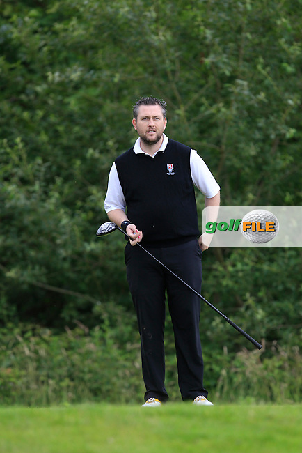 Joe McDonald (Ballykisteen) on the 12th tee during the Semi-Finals of the Munster Bruen &amp; Shield Finals at East Clare Golf Club on Sunday 19th July 2015.<br /> Picture:  Golffile | Thos Caffrey All photo usage must carry mandatory copyright credit (&copy; Golffile | Thos Caffrey)