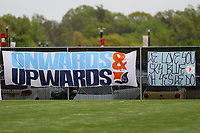 Piscataway, NJ - Sunday April 30, 2017: Cloud Nine Banners during a regular season National Women's Soccer League (NWSL) match between Sky Blue FC and FC Kansas City at Yurcak Field.