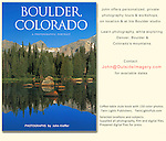 &quot;Boulder, Colorado: A Photographic Portrait.&quot;  John's 4th photo book.<br />