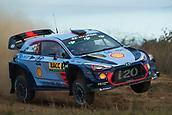5th October 2017, Costa Daurada, Salou, Spain; FIA World Rally Championship, RallyRACC Catalunya, Spanish Rally; Thierry NEUVILLE - Nicolas GILSOUL of Hyundai Motorsport jumps in the shakedown