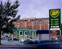 North Avenue BP Station, Atlanta, GA. Atlanta, Georgia.