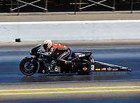 Jul 30, 2017; Sonoma, CA, USA; NHRA pro stock motorcycle rider Andrew Hines during the Sonoma Nationals at Sonoma Raceway. Mandatory Credit: Mark J. Rebilas-USA TODAY Sports