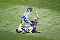 LA Sol's Katie Larkin defends against Boston Breakers Alex Scott. The Boston Breakers and LA Sol played to a 0-0 draw at Home Depot Center stadium in Carson, California on Sunday May 10, 2009.   .