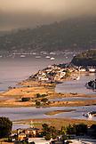 USA, California, elevated view of Richardson Bay and Sausalito