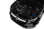 Car stock 2018 Mercedes Benz GLA AMG 45 5 Door SUV engine high angle detail view