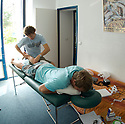 Australian Taj Burrows having a Massage in Hossegor, france.