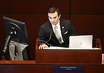 Nevada  Assemblyman Derek Armstrong, R-Las Vegas, chairs a Committee of the Whole hearing at the Legislative Building in Carson City, Nev., on Saturday, May 30, 2015. <br /> Phot by Cathleen Allison