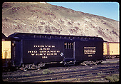 3/4 view Baggage car #154 - Salida.<br /> D&amp;RGW  Salida, CO
