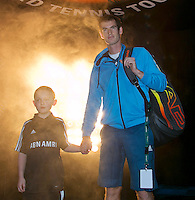 Rotterdam, The Netherlands. 14.02.2014. ABN AMRO World Tennis Tournament Andy Murray(GRB) <br /> Photo:Tennisimages/Henk Koster