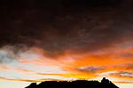 Sunset clouds over mountain, Abra Granada, Andes, northwestern Argentina