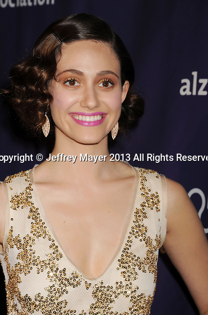 BEVERLY HILLS, CA - MARCH 20: Emmy Rossum arrives at the 21st Annual 'A Night At Sardi's' to benefit the Alzheimer's Association at The Beverly Hilton Hotel on March 20, 2013 in Beverly Hills, California.
