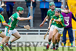 Eoin Ross Ballyduff in action against Jason Wallace Lixnaw in the Senior County Hurling Final in Austin Stack Park on Sunday