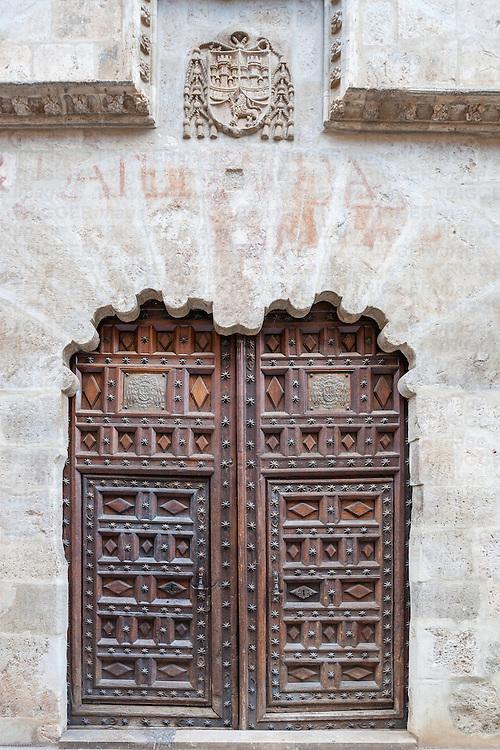 Doorway of the Bishop's Palace, Burgo de Osma, Soria, Spain.