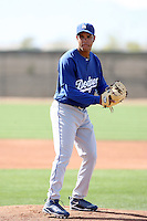 Juan Perez, Los Angeles Dodgers 2010 minor league spring training..Photo by:  Bill Mitchell/Four Seam Images.