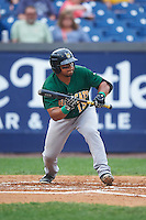 Lynchburg Hillcats left fielder Sicnarf Loopstok (13) squares to bunt during a game against the Wilmington Blue Rocks on June 3, 2016 at Judy Johnson Field at Daniel S. Frawley Stadium in Wilmington, Delaware.  Lynchburg defeated Wilmington 16-11 in ten innings.  (Mike Janes/Four Seam Images)