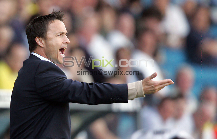 PICTURE BY VAUGHN RIDLEY/SWPIX.COM -  Football - Coca-Cola Championship - Leeds United v Burnley - Elland Road, Leeds, England - 14/04/07...Copyright - Simon Wilkinson - 07811 267706...Leeds Dennis Wise directs players from the touchline.